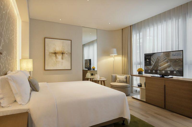 Al Bandar Rotana Classic suite bed