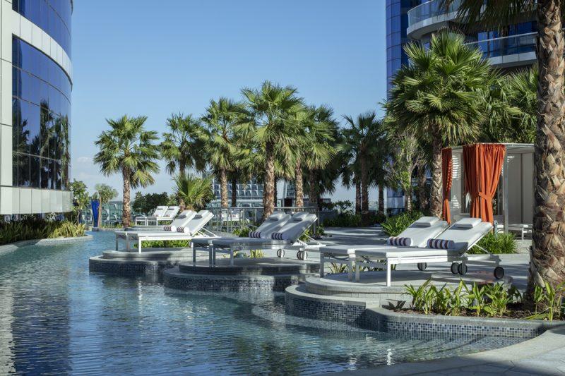 Pool deck at paramount Dubai