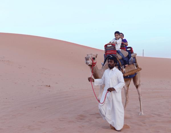 Camel Ride in RAK Desert