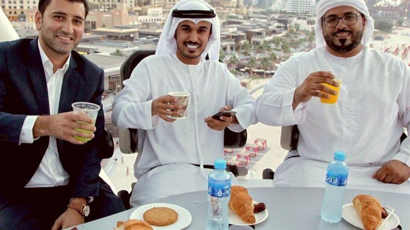 Dinner at Flying Cup Dubai